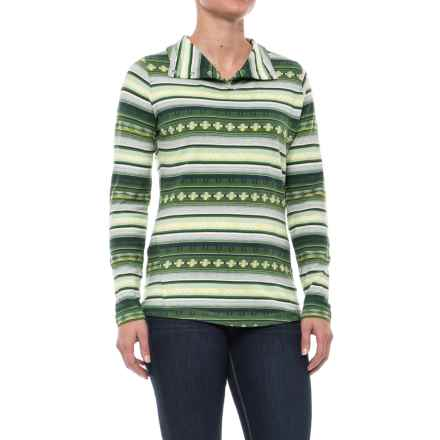 Woolrich Spring Mile Run Shirt - Snap Neck, Long Sleeve (For Women) in Moss - Closeouts