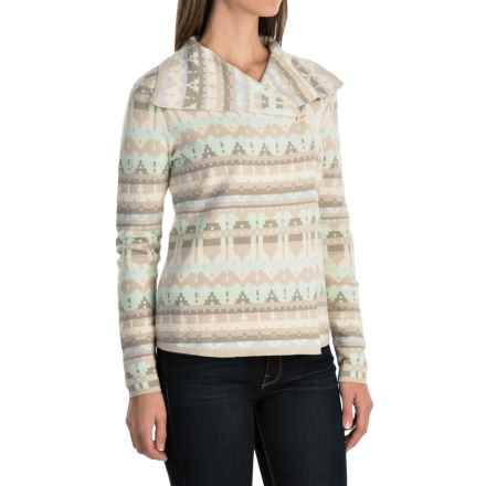 Woolrich Springwood Jacquard Cardigan Sweater (For Women) in Neutral - Closeouts