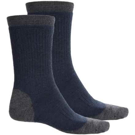 Woolrich Spruce Creek Hiker Socks - 2-Pack, Merino Wool, Crew (For Men) in Navy/Grey - Closeouts
