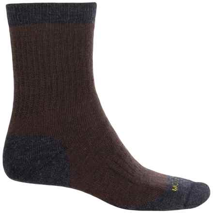Woolrich Spruce Creek Hiker Socks - Merino Wool, Crew (For Men and Women) in Jet/Dark Brown - Closeouts