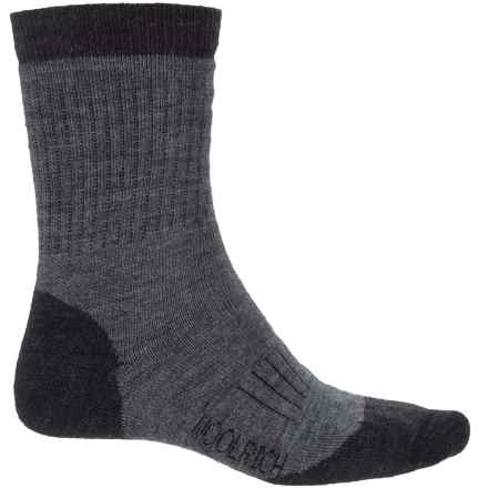 Woolrich Spruce Creek Hiker Socks - Merino Wool, Crew (For Men and Women) in Jet/Dark Grey Heather - Closeouts