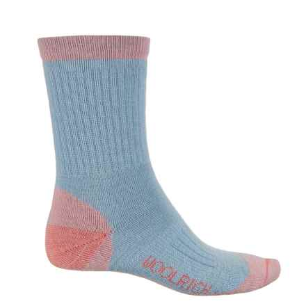 Woolrich Spruce Creek Hiker Socks - Merino Wool, Crew (For Men and Women) in Melon/Blue - Closeouts