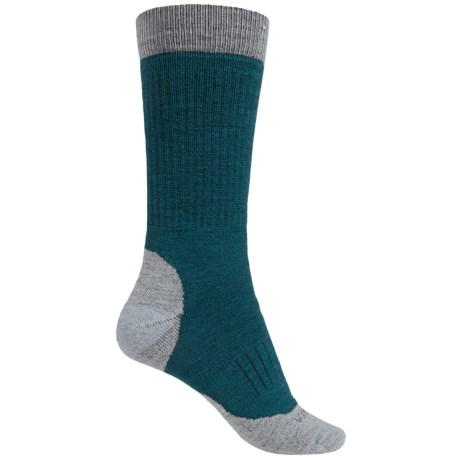 Woolrich Spruce Creek Hiker Socks - Merino Wool, Crew (For Men and Women) in Soft Grey