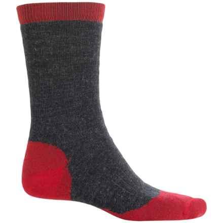 Woolrich Spruce Creek Hiker Socks - Merino Wool, Crew (For Women) in Red - Closeouts