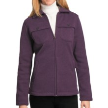 Woolrich Stag Heirloom Fleece Shirt Jacket - Long Sleeve (For Women) in Blackberry Heather - Closeouts