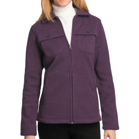 Woolrich Stag Heirloom Fleece Shirt Jacket - Long Sleeve (For Women) in Blackberry Heather