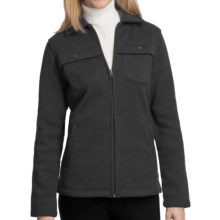 Woolrich Stag Heirloom Fleece Shirt Jacket - Long Sleeve (For Women) in Charcoal - Closeouts