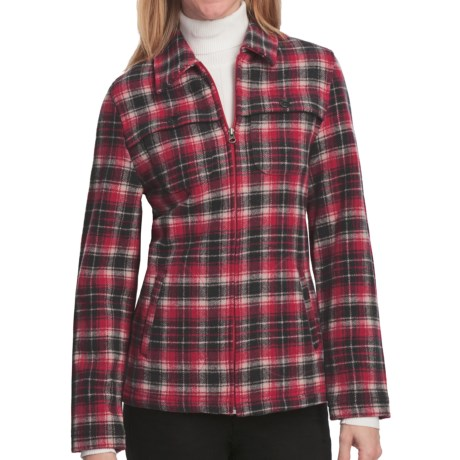 Woolrich Stag Heirloom Shirt Jacket - Wool, Long Sleeve (For Women) in Heirloom Red Multi