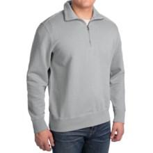 Woolrich Standing Stone Sweatshirt - Zip Neck, Long Sleeve (For Men) in Coastal Grey - Closeouts