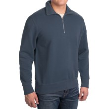 Woolrich Standing Stone Sweatshirt - Zip Neck, Long Sleeve (For Men) in Deep Indigo - Closeouts