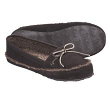 Woolrich Stepstone Slippers - Suede, Berber Fleece (For Women) in Chocolate - Closeouts