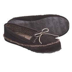 Woolrich Stepstone Slippers - Suede, Berber Fleece (For Women) in Chocolate