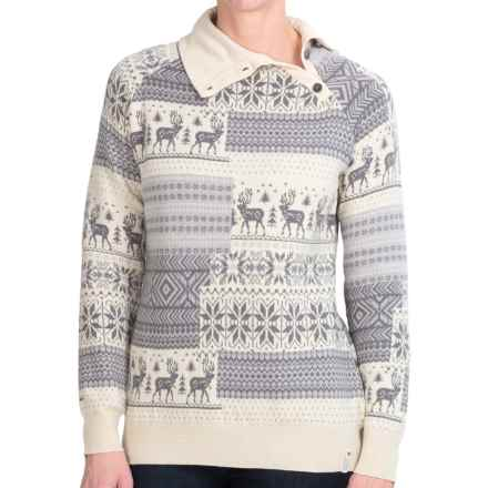 Woolrich Stokes Mountain Cowl Sweater (For Women) in Wool Cream - Closeouts