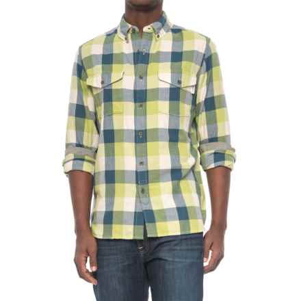 Woolrich Stone Rapids Flannel Shirt - Organic Cotton, Long Sleeve (For Men) in Leaf Green Buffalo - Closeouts