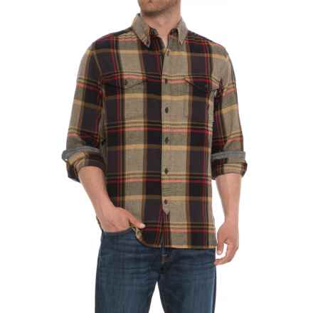 Woolrich Stone Rapids Flannel Shirt - Organic Cotton, Long Sleeve(For Men) in Black - Overstock