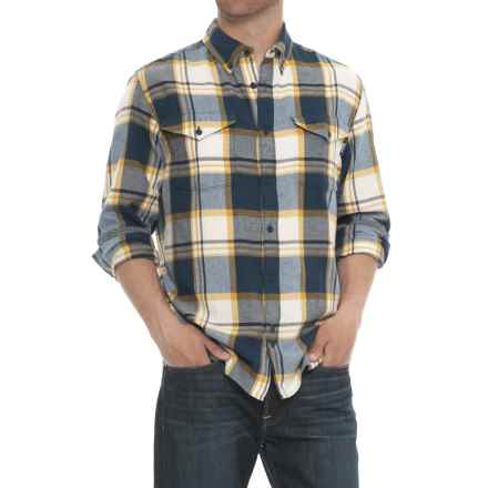 Woolrich Stone Rapids Flannel Shirt - Organic Cotton, Long Sleeve(For Men) in New Royal Blue - Overstock