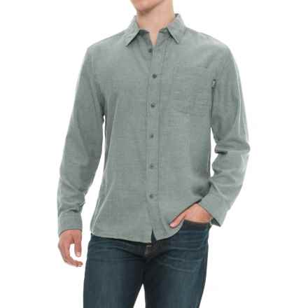 Woolrich Stone Rapids Shirt - Long Sleeve (For Men) in Mallard Green Herringbone - Overstock