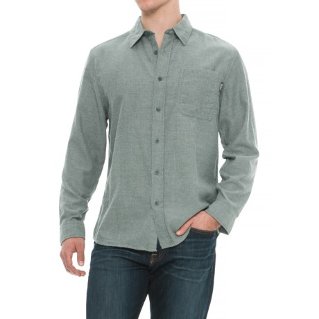 Woolrich Stone Rapids Shirt - Long Sleeve (For Men) in Mallard Green Herringbone