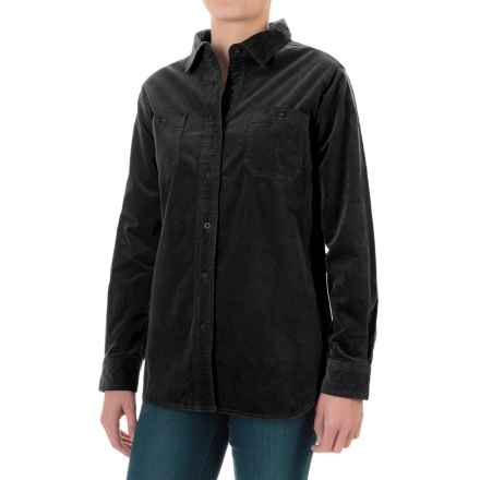 Woolrich Stretch Cotton Corduroy Shirt - Long Sleeve (For Women) in Black - Closeouts