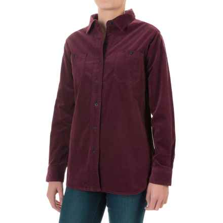 Woolrich Stretch Cotton Corduroy Shirt - Long Sleeve (For Women) in Fig - Closeouts