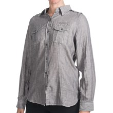 Woolrich Sugar Run Shirt - Cotton, Long Sleeve (For Women) in Ccl Charcoal - Closeouts