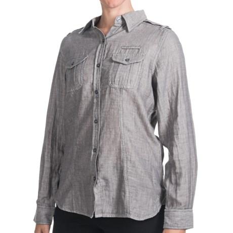 Woolrich Sugar Run Shirt - Cotton, Long Sleeve (For Women) in Charcoal