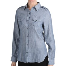 Woolrich Sugar Run Shirt - Cotton, Long Sleeve (For Women) in Copen - Closeouts