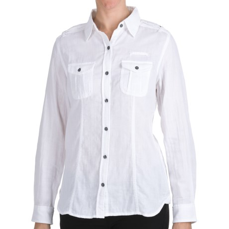 Woolrich Sugar Run Shirt - Cotton, Long Sleeve (For Women) in Charcoal