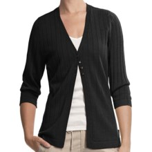 Woolrich Summit Hill Cardigan - Merino Wool, Rib Stitch (For Women) in Black - Closeouts