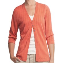Woolrich Summit Hill Cardigan - Merino Wool, Rib Stitch (For Women) in Calypso - Closeouts