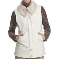 Woolrich Summit Soft Shell Vest (For Women) in Winter White