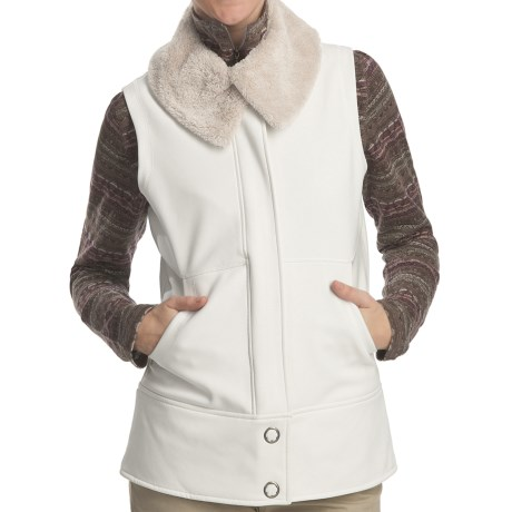 Woolrich Summit Soft Shell Vest (For Women) in Winter White