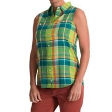 Woolrich Sunbury Plaid Shirt - Sleeveless (For Women) in Lemongrass - Closeouts