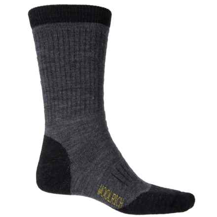 Woolrich Superior Hiking Socks - Merino Wool, Crew (For Men) in Jet - Closeouts