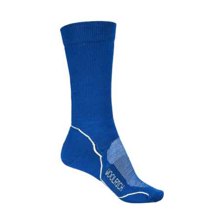 Woolrich Superior Hiking Socks - Merino Wool, Crew (For Women) in Bright Blue/Sun Yellow - Closeouts