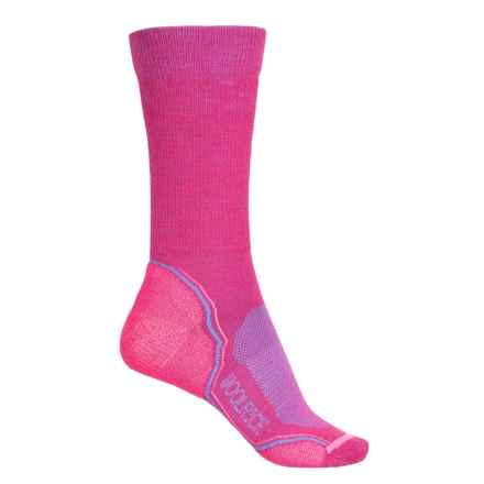 Woolrich Superior Hiking Socks - Merino Wool, Crew (For Women) in Shocking - Closeouts