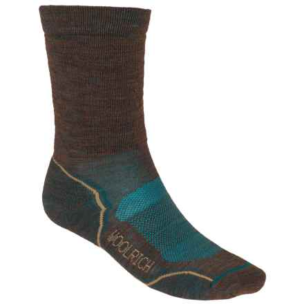 Woolrich Superior Hiking Socks - Merino Wool, Midweight, Crew (For Men) in Brown/Gulf - Closeouts
