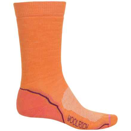 Woolrich Superior Hiking Socks - Merino Wool, Midweight, Crew (For Men) in Orange - Closeouts