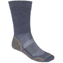 Woolrich Superior Hiking Socks - Merino Wool, Midweight, Crew (For Men) in Steel/Green - Closeouts