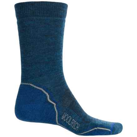 Woolrich Superior Hiking Socks - Merino Wool, Midweight, Crew (For Men) in Underwater/Gray - Closeouts