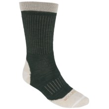 Woolrich Superior Ribbed Casual  Hiking Socks - Merino Wool, Midweight, Crew (For Men) in Olive/Oatmeal - Closeouts