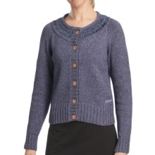 Woolrich Sweetfern Cardigan Sweater - Merino Wool (For Women) in Deep Indigo Heather - Closeouts
