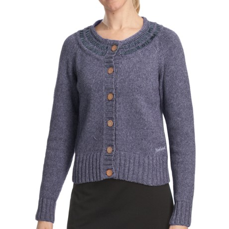 Woolrich Sweetfern Cardigan Sweater - Merino Wool (For Women) in Deep Indigo Heather