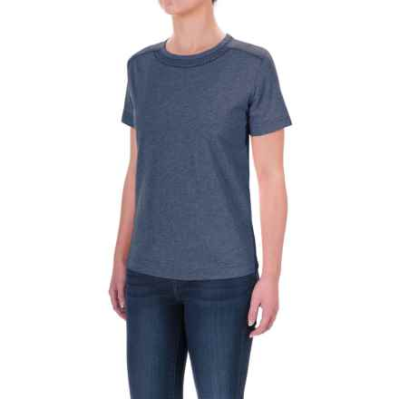 Woolrich Tall Pine Embroidered Heather T-Shirt - Scoop Neck, Short Sleeve (For Women) in Deep Indigo - Closeouts