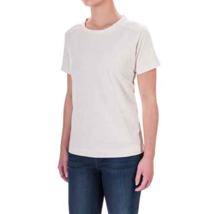 Woolrich Tall Pine Embroidered Heather T-Shirt - Scoop Neck, Short Sleeve (For Women) in Ecru - Closeouts
