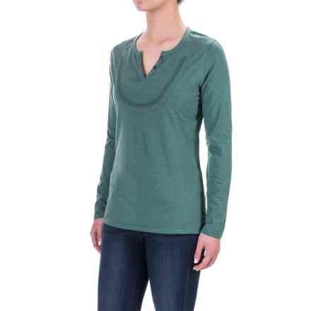 Woolrich Tall Pine Embroidered Henley Shirt - Long Sleeve (For Women) in Seagrove - Closeouts
