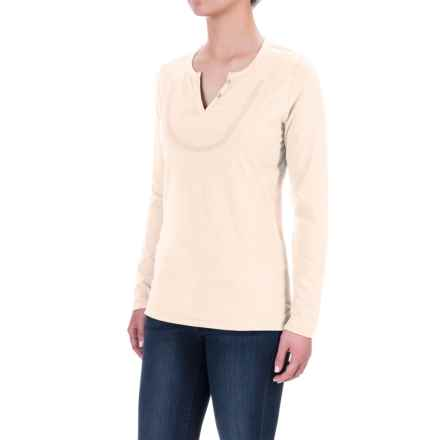 Woolrich Tall Pine Embroidered Henley Shirt - Long Sleeve (For Women) in Wool Cream - Closeouts