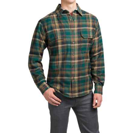 Woolrich Tall Pine Flannel Shirt Jacket - Lined (For Men) in Green Plaid - Closeouts