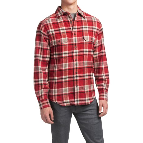 Woolrich tall pine flannel shirt jacket for men for Big and tall lined flannel shirts