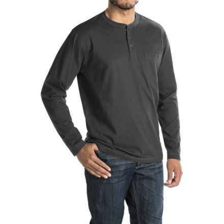 Woolrich Tall Pine Henley Shirt - Long Sleeve (For Men) in Black - Closeouts